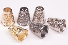Koncovka kovová zlatá