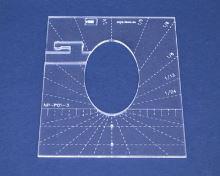 Quiltovací pravítko elipsa 1 výška 5mm