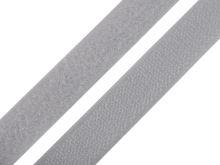 Suchý zip komplet středně šedá, šíře 2 cm