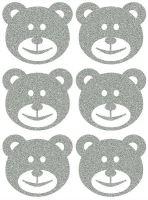 Nažehlovací aplikace reflexní medvědi