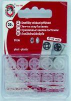Našívací patenty plastové BODY MIA 3 čirá