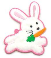 Nažehlovací aplikace králíček růžový