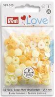 Prym LOVE mini plastové patentky Color snaps žlutý mix
