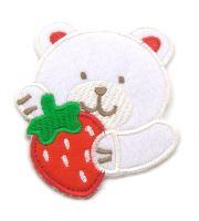 Nažehlovací aplikace medvěd s jahodou