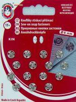 Našívací patenty KIN vel.1/2 nikl