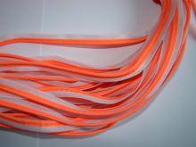 Textilní paspule reflexní oranžovo bílá