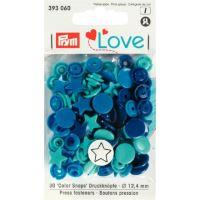 Prym LOVE plastové patentky Color snaps hvězdičky modro-tyrkysové