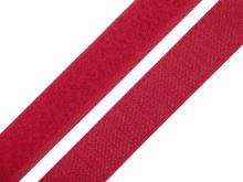Suchý zip komplet červený, šíře 2 cm