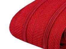 Zip spirálový v metráži 3mm červená