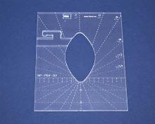 Quiltovací pravítko list 1 výška 3mm