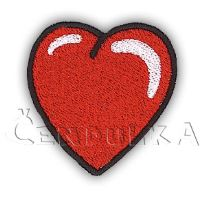 Nažehlovací aplikace srdce