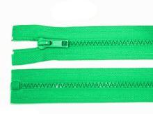 Zdrhovadlo zip kostěný 65 cm dělitelný sv. zelená