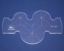 Quiltovací pravítko kruhy 1 výška 3mm