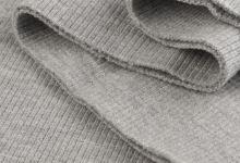 Náplety elastické žebrované - tunel 16x80 cm sv. šedá