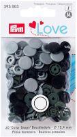 Prym LOVE plastové patentky Color snaps šedý mix