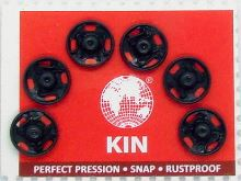 Našívací patenty KIN vel.2 černá