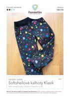 Tištěný střih softshellové kalhoty Klasik vel. 140-170
