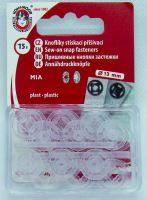 Našívací patenty plastové BODY MIA 5 čirá