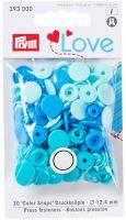 Prym LOVE plastové patentky Color snaps modrý mix