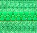 Zdrhovadlo zip kostěný 22 cm nedělitelný sv. zelená
