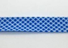 Šikmý proužek 20mm BA/PES kostička modrá