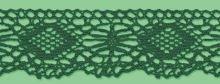 Krajka paličkovaná šíře 35 mm tm. zelená