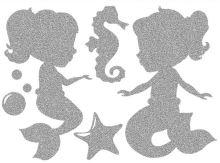 Nažehlovací aplikace reflexní mořské panny 1