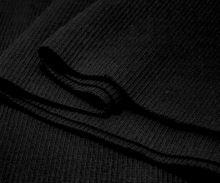 Náplety elastické žebrované - tunel 15x80 cm černá