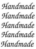 Nažehlovací aplikace nápis Handmade na kartičce 8x10cm