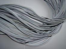 Textilní paspule reflexní šedo bílá