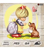 Nažehlovací aplikace dívka a štěňátko I