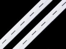 Pruženka dírkovaná šíře 15mm délka 5m bílá