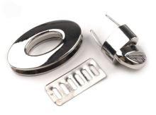Zapínání na kabelky otočné stříbrné