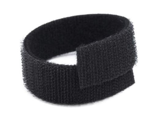 Suchý zip oboustranný černý, šíře 2 cm