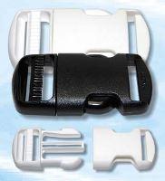 Spona plastová 25mm trojzubec bílá