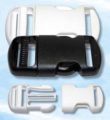 Spona plastová 10mm trojzubec černá
