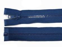 Zdrhovadlo zip kostěný 50 cm dělitelný vlajková modrá