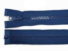 Zdrhovadlo zip kostěný 65 cm dělitelný vlajková modrá