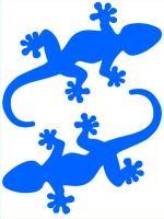 Nažehlovací aplikace ještěrky neonově modrá