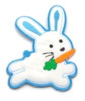 Nažehlovací aplikace králíček modrý