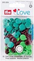 Prym LOVE plastové patentky Color snaps zelenohnědý mix
