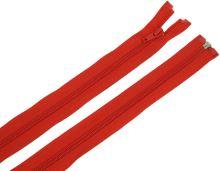 Zdrhovadlo zip plastový 55cm dělitelný šíře 6mm červená