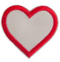 Nažehlovací aplikace reflexní srdce