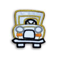 Nažehlovací aplikace auto žluté