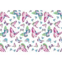 Metráž 100% bavlna jarní motýl