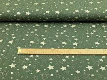 Teplákovina zlaté hvězdy na khaki