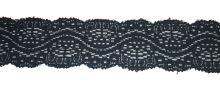 Pružná krajka šíře 38mm černá