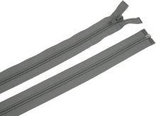 Zdrhovadlo zip plastový 55cm dělitelný šíře 6mm šedá