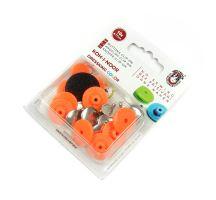 Knoflík dressking 10ks reflexní oranžová 930
