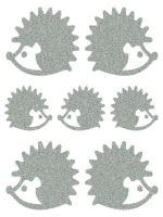 Nažehlovací aplikace reflexní tvar ježek